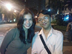 with Rhian Ramos (pic courtesy of stephen)